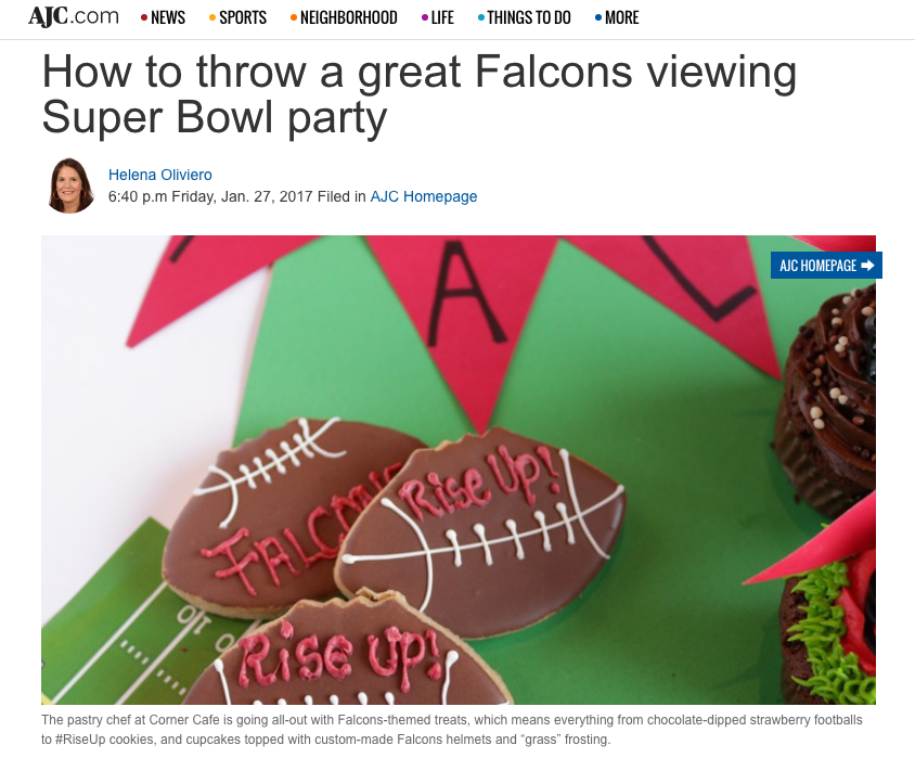 AJC Suggests Corner Cafe Treats for The Big Game