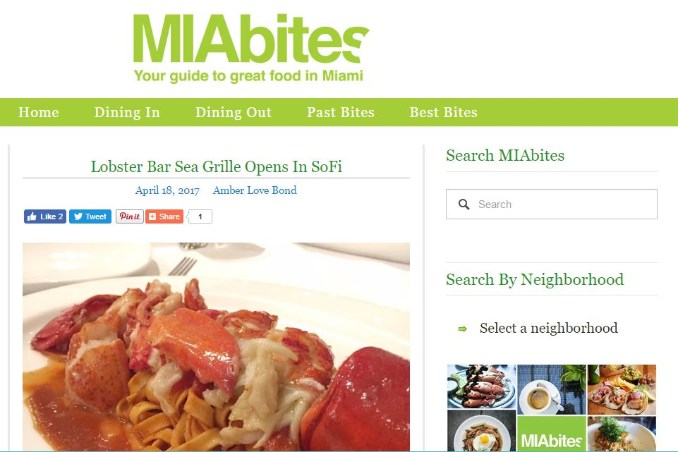 MIABites.com Features Lobster Bar Sea Grille Miami Beach