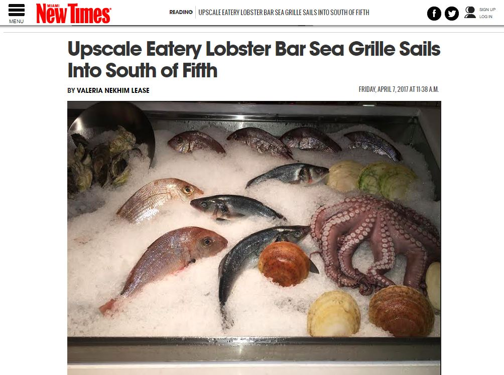 Lobster Bar Sea Grille Reviewed in Miami New Times