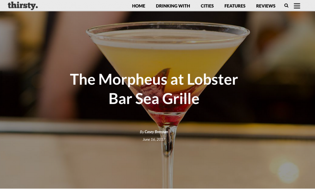 Lobster Bar Sea Grille Miami Beach featured in Thirsty Magazine