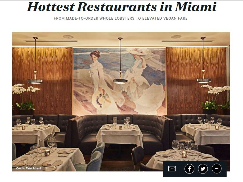 """Lobster Bar Sea Grille Named One of the """"Hottest Restaurants in Miami"""" by Zagat"""